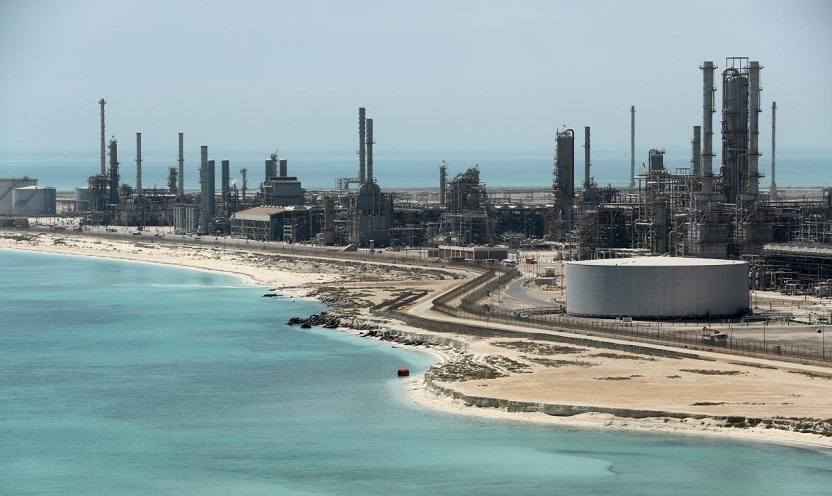 General view of Saudi Aramco's Ras Tanura oil refinery and oil terminal in Saudi Arabia (REUTERS)