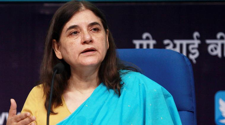 Indian Minister for Women & Child Development, Maneka Sanjay Gandh
