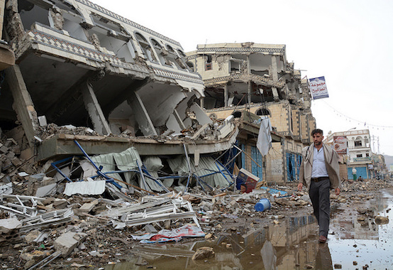 Great destruction left by the war in Yemen