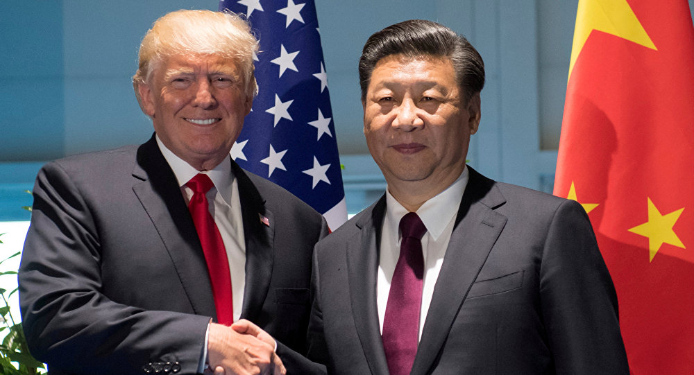 US President Donald Trump and Chinese President Xi Jinping (archive)