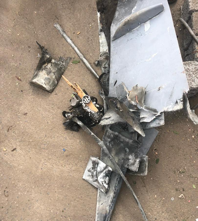 Debris of drone that attacked Anad Base