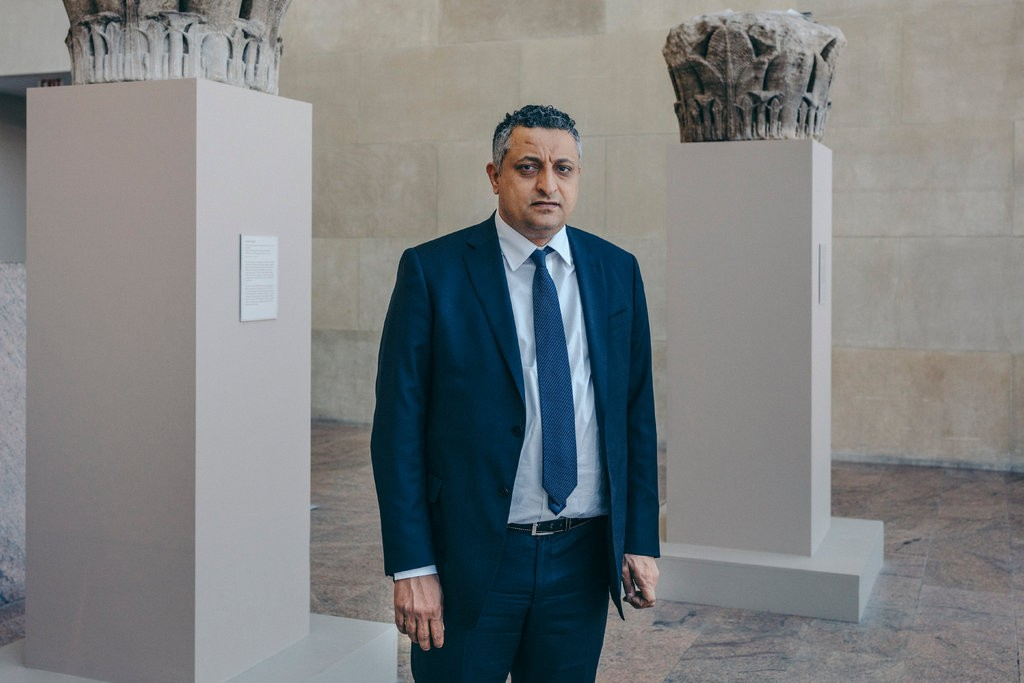 Marwan Dammaj, the culture minister of Yemen, at the Metropolitan Museum of Art on Wednesday.