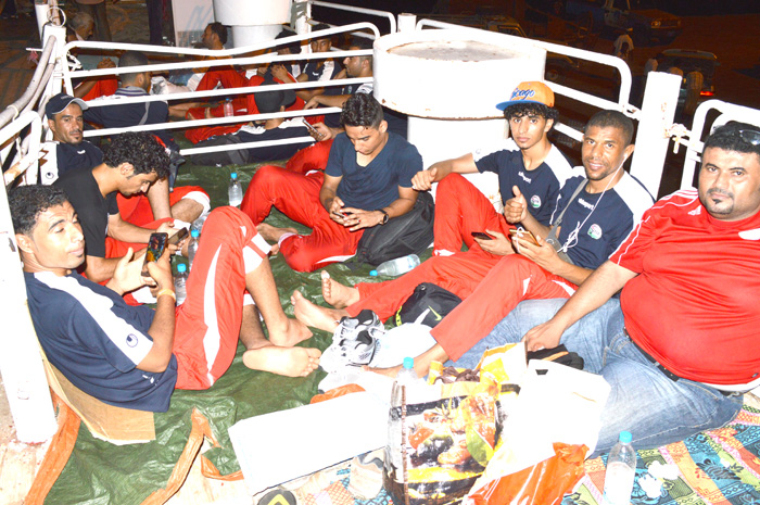 Yemeni team sailed 18 hours on livestock ship to participate in tournament abroad
