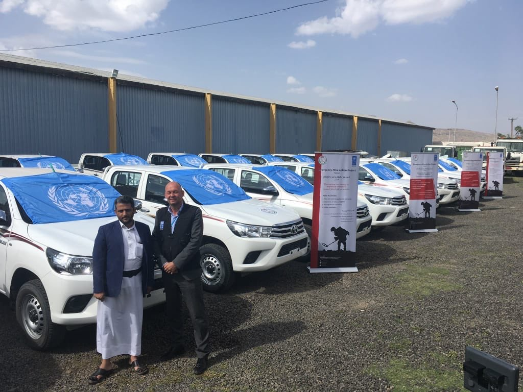 Cars provided by UN to Houthis