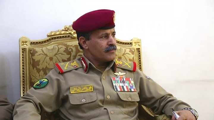 Major General Mohammed Al-Atefi, Minister of Defense in the Houthi government in Sana'a