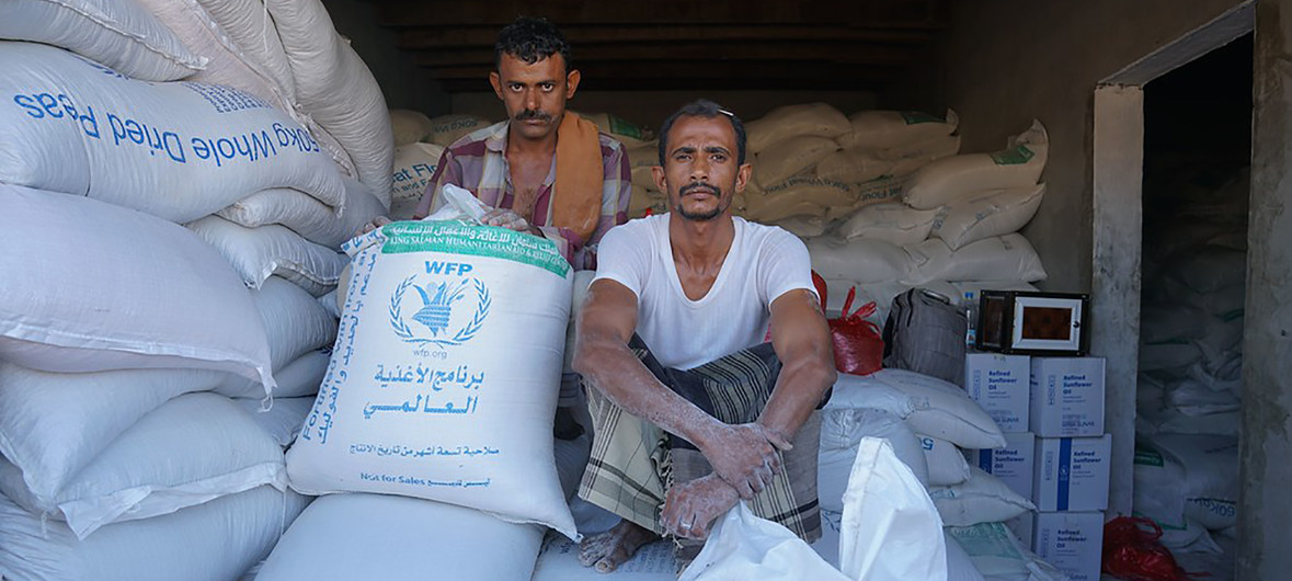 WFP food warehouse in Yemen, file