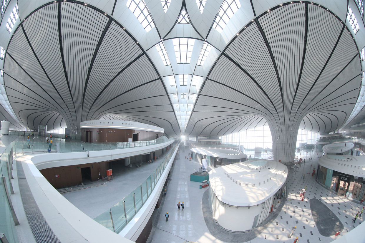 The construction of Daxing International Airport
