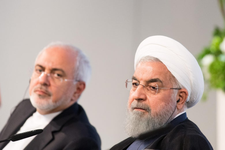 Hassan Rouhani and Javad Zarif