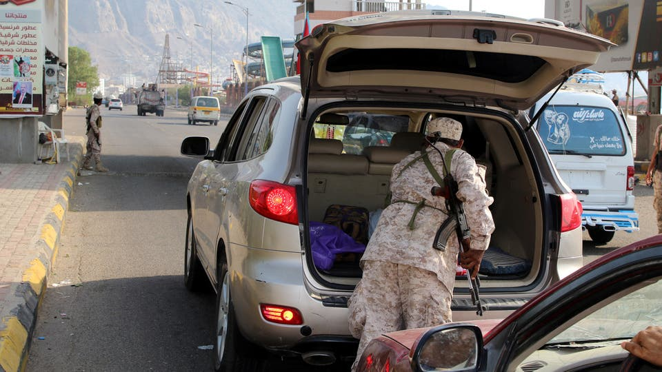 ((STC elements inspect cars in Aden))
