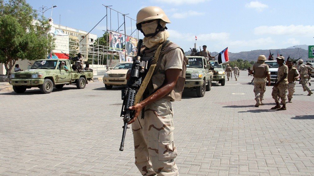 Security belt forces of the Transitional Council in Aden