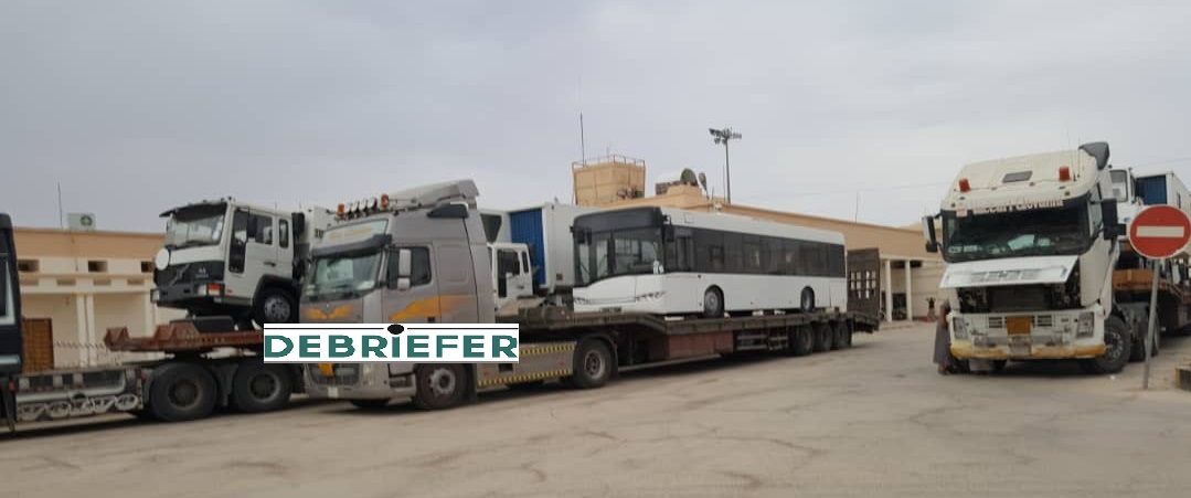 Al-Eisei ground services equipment arrives on Monday at Sayoun airport (Debriefer Exclusive picture)