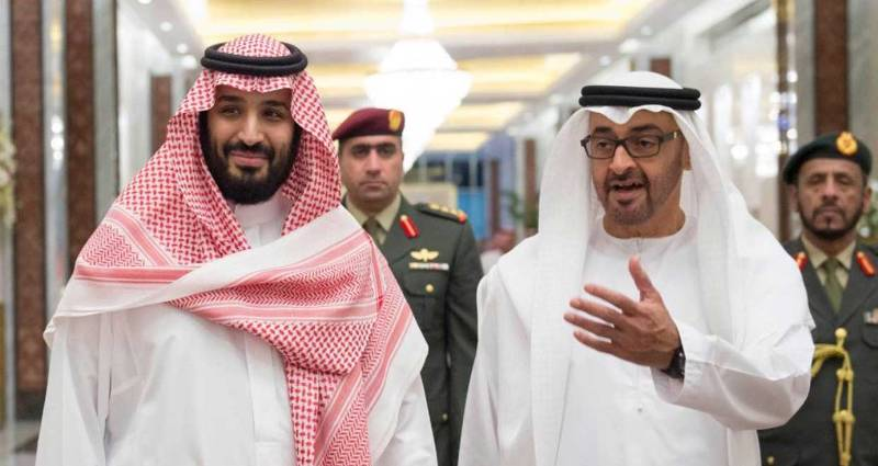 Crown Prince Mohammed bin Salman and Abu Dhabi ruler Mohammed bin Zayed