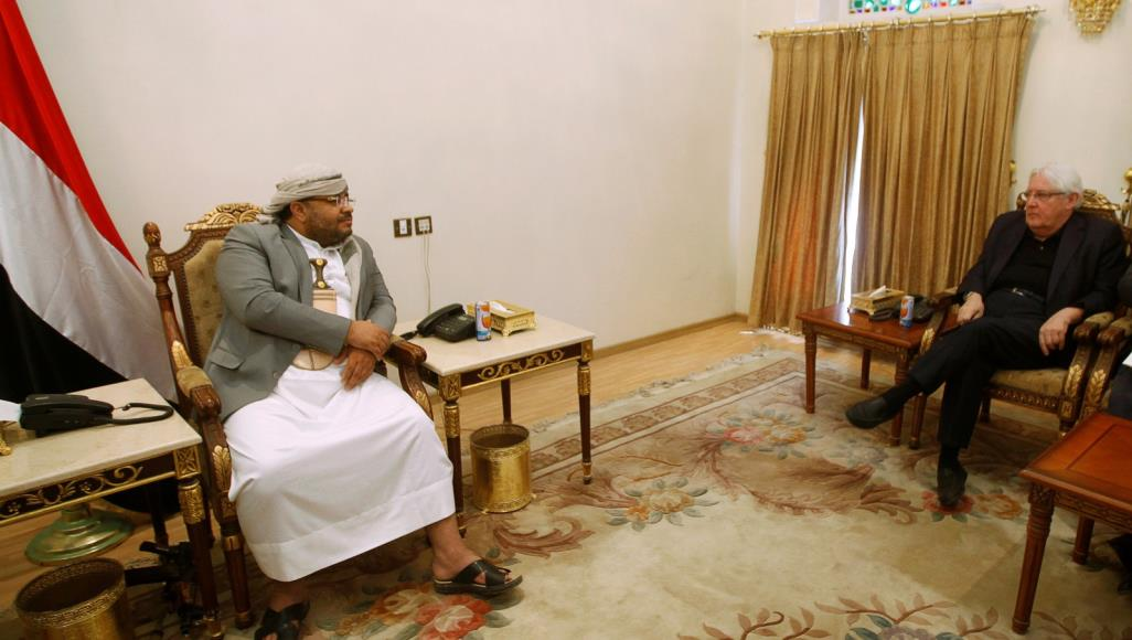 Previous meeting between the Houthi leader Mohammed Ali Houthi and UN envoy Martin Griffiths