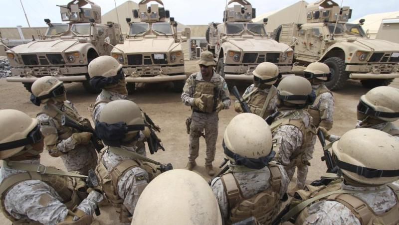 Saudi forces in Aden, Reuters file