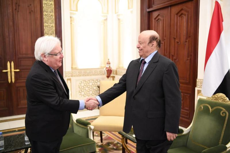 Griffiths at meeting with President Hadi