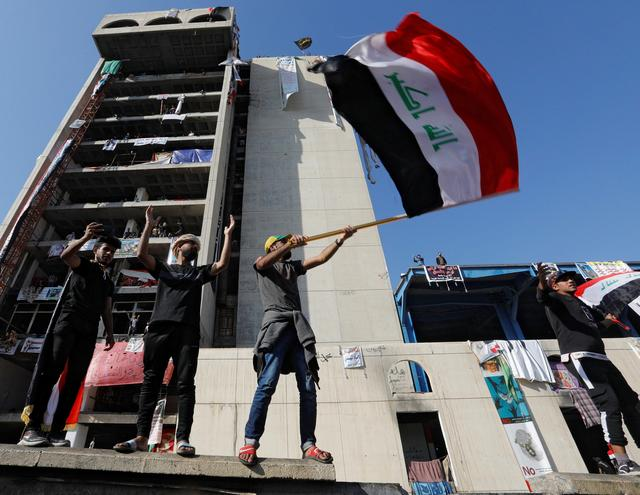 Protesters are still holding ground in Baghdad