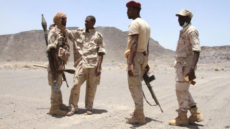 Sudanese troops, file
