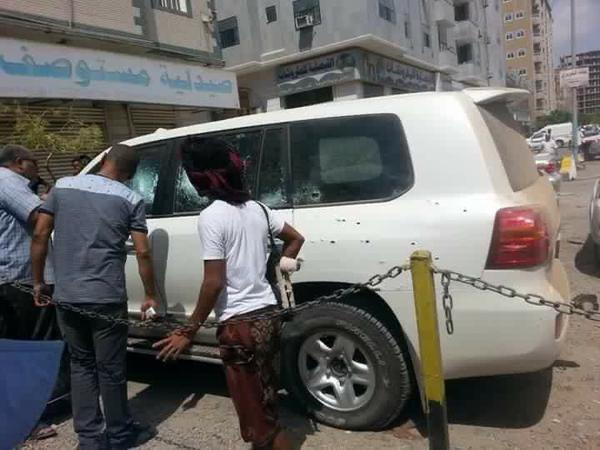 Car driven by Captain Al-Shamisi when he was targeted