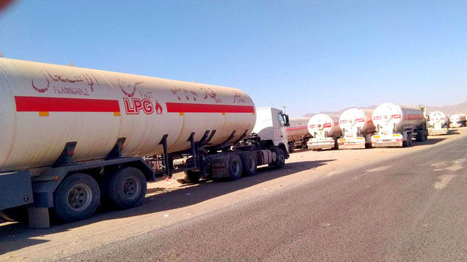 Houthis accuse coalition of detaining 20k tons of gas
