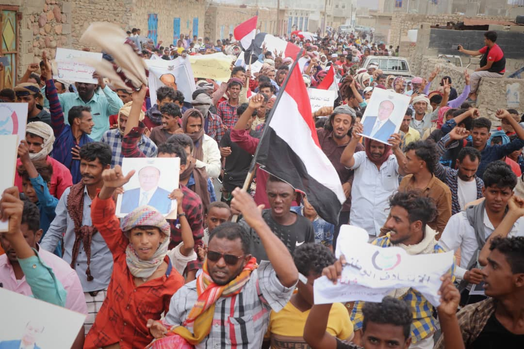 Mass demonstration in Socotra demanding return of local government