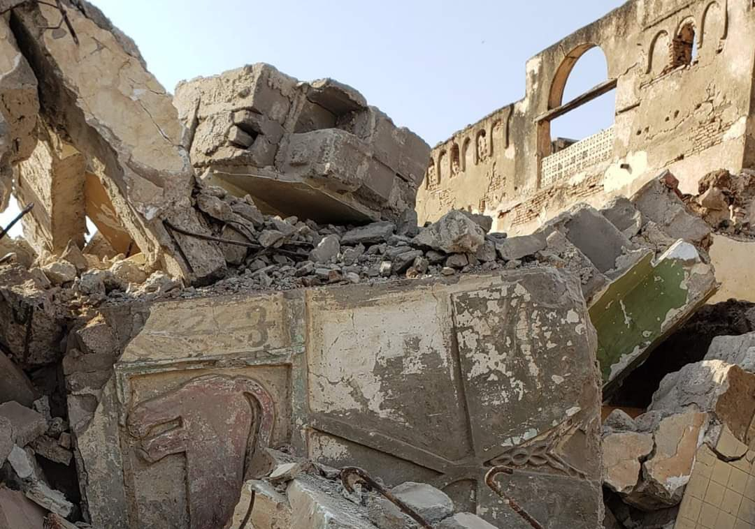 The internationally recognised government of Yemen said the Houthi group destroyed the ancient Al-Sukhnah Palace in Hodeidah province