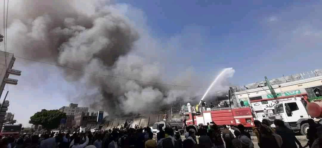 حريق مركز برافو سنتر