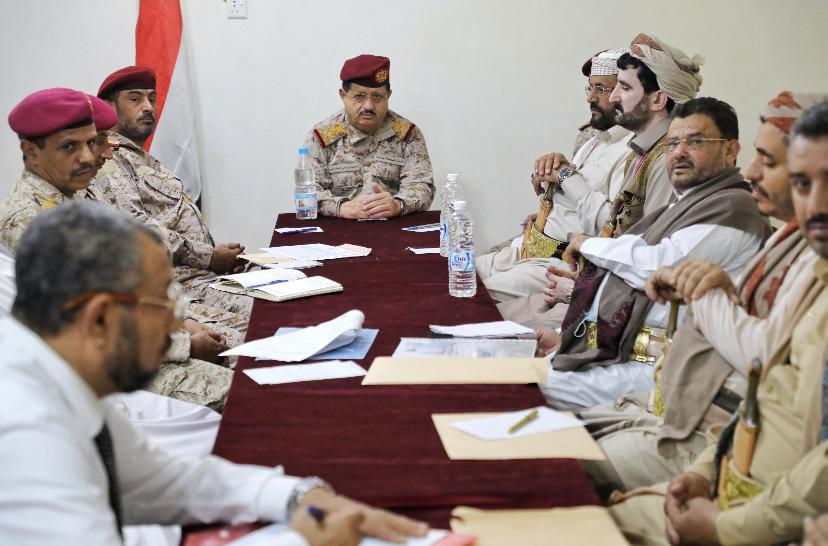 Maqdashi at meeting with army leaders and Marib, Sana'a and Rayma governors