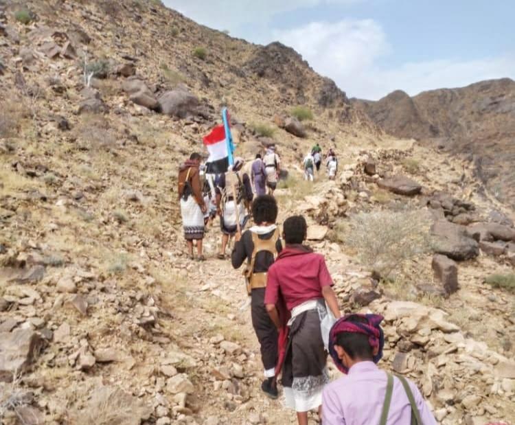 مسلحوا الانتقالي في طريقهم الى منطقة عبدان