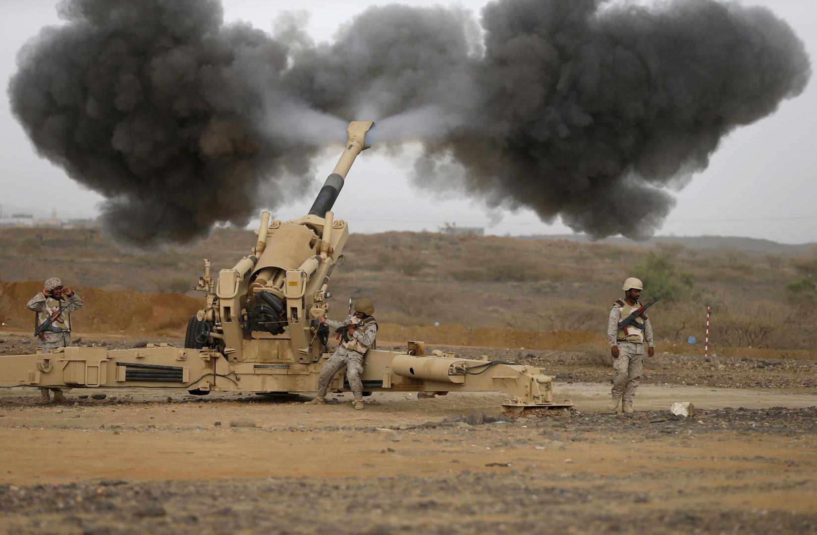 قصف للقوات السعودية على الحدود اليمنية - ارشيف