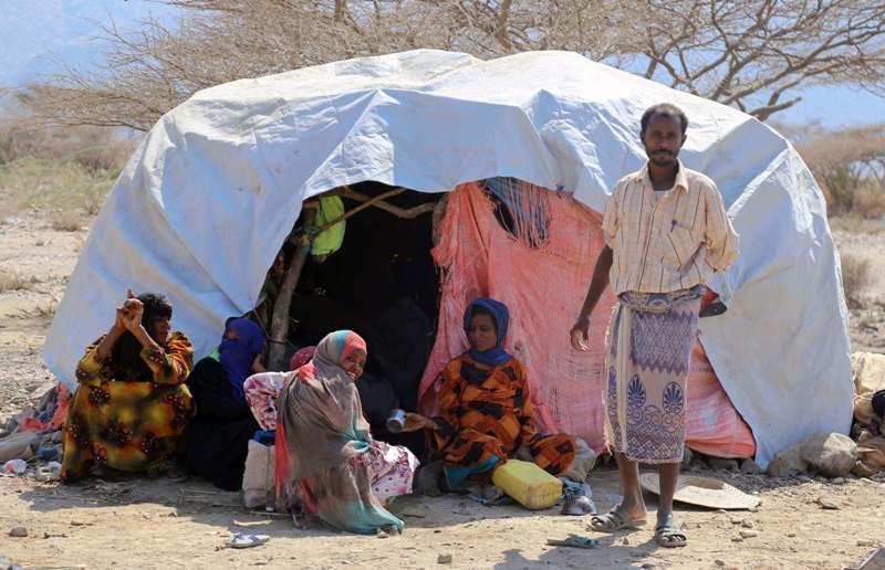 نازحون يمنيون - ارشيف