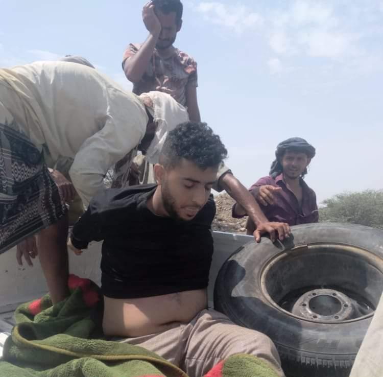 السنباني اثناء احتجازه من قبل قوات الانتقالي