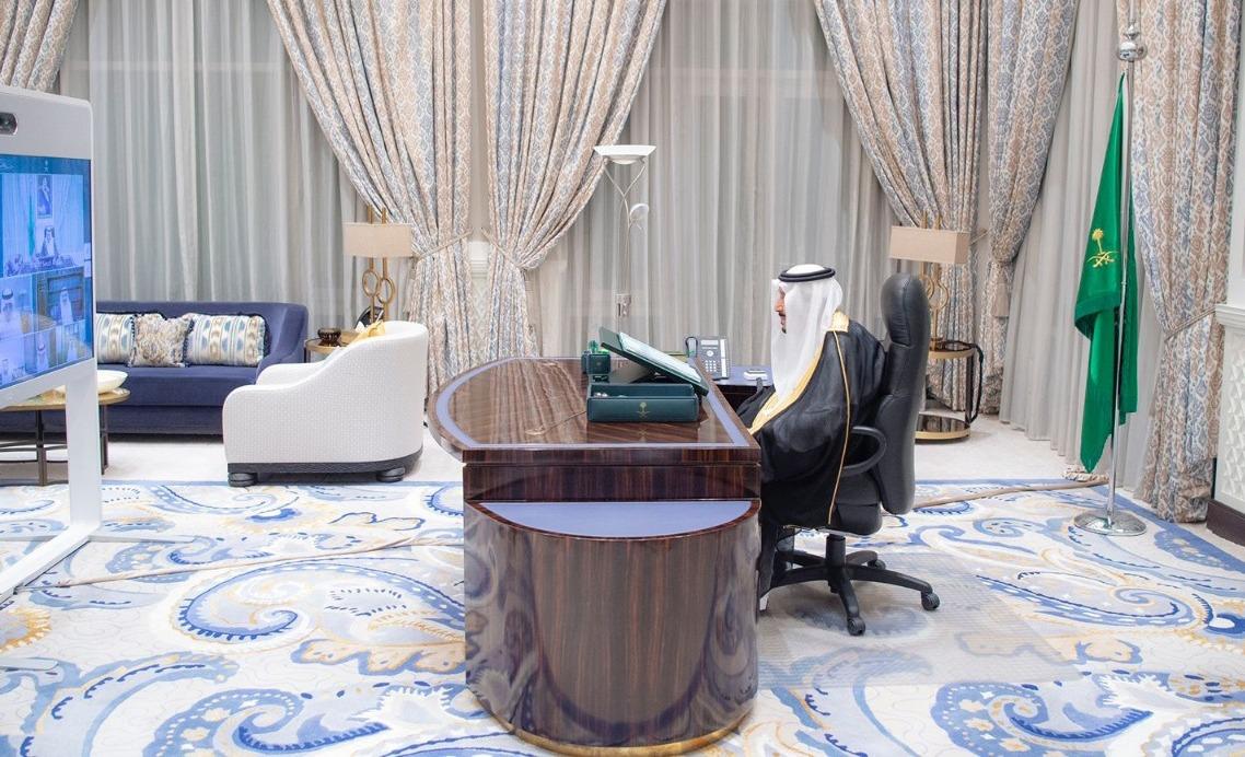 العاهل السعودي يترأس جلسة مجلس الوزراء عن بعد