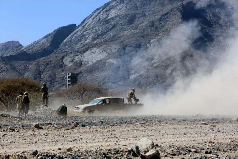 مقاتلون موالون للحكومة في بيحان