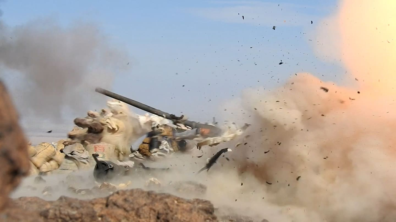 تدمير مخزن اسلحة للحوثيين في مأرب